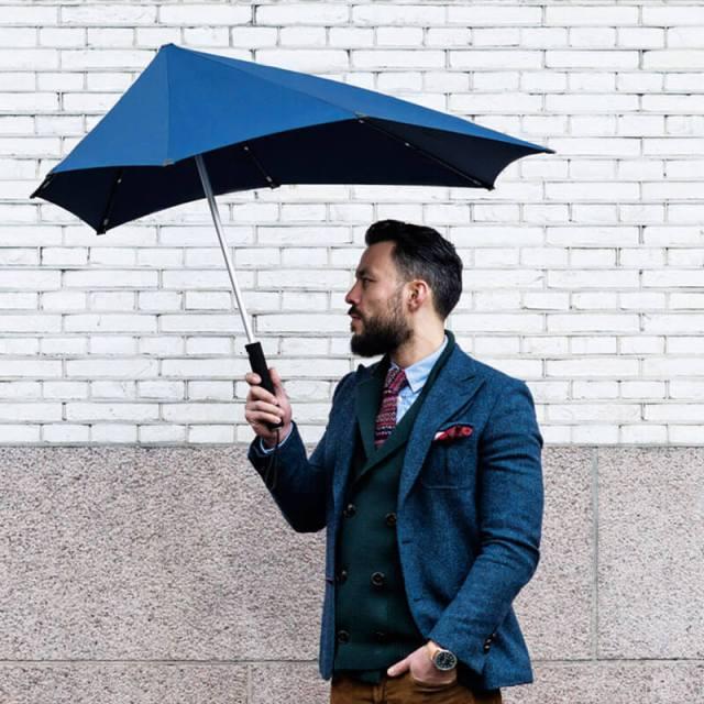 """Senz """"Smart"""" Stormproof Stick Umbrella"""
