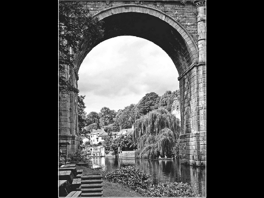 Knaresborough  Thro the Viaduct mono