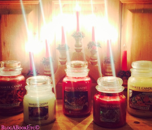 Yankee Candles, Candles, Christmas, Christmas Candles, Snuggling, Festive, Blog A Book Etc, Fay, Scented Candles, Sugared Apples, Christmas Eve, Candy Cane Lane, Cinammon Stick, Christmas Cookies