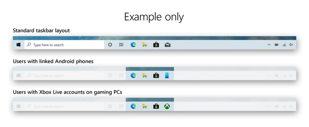 Tailored default Taskbars for different users.