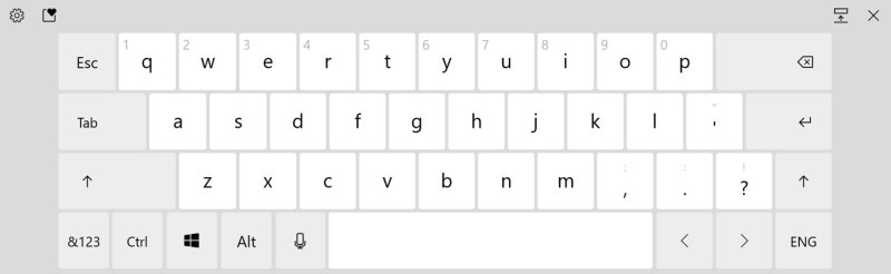 The updated default layout now features the Esc, Tab, Windows, and Alt keys.