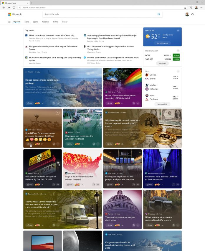 """By clicking """"See more news"""", you get a redesigned feed experience with top headlines and a vibrant feed of personalized stories."""