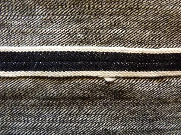 Detail of RJB jeans made from Zimbabwe cotton.