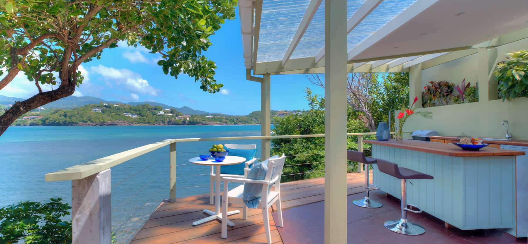 Private pool villa's view at 473 Grenada Boutique Resort