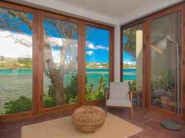 Living room ocean front villa