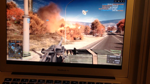 Steam In-Home Streaming on a Mac: Battlefield 4 on a MacBook Air