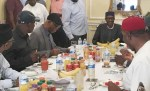 Breaking: What Buhari Told APC Governors, Others In London
