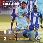 VIDEO: Alaves 0 – 2 Barcelona [La liga] Highlights 2017/18