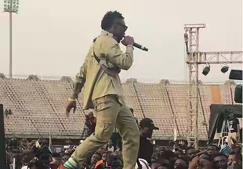 LAX-performs-in-his-NYSC-uniform-at-OLIC-4 Entertainment Gists Events General News Lifestyle & Fashion News Photos