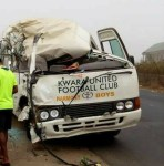 Kwara United Players Involved in a Motor Accident On Lagos-Ibadan Expressway
