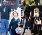 Lamar Odom With Mystery Blonde Lady Who People Say Looks Very Similar To Ex-wife Khloe Kardashian [Photos]