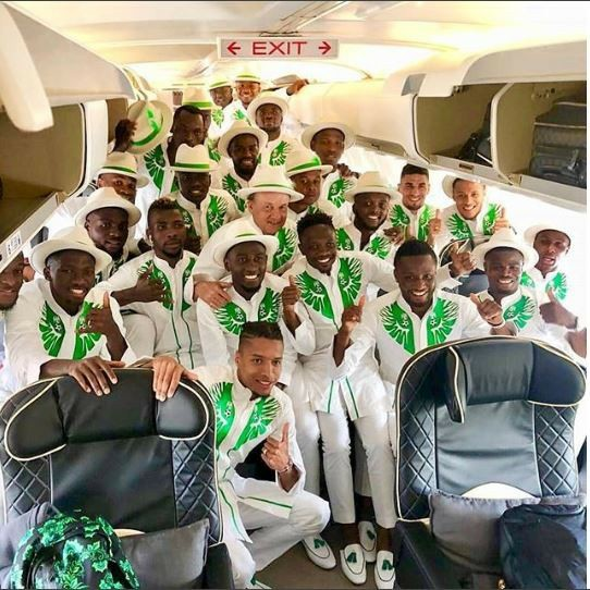 More Photos of Super Eagles Outfits As They Landed In Russia In Style