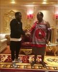 Super Eagles Legend Jay-Jay Okocha Meets With King of Swaziland, Mswati III