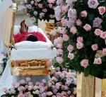 Photos: Aretha Franklin's Gold Casket Arrives in Detroit For Open Casket Public Viewing