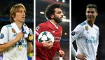 Ronaldo, Salah And Modric Nominated For UEFA Men's Player of The Year, Messi Left Out