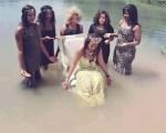 Photos: A Bridal Shower Done Inside A Stream Amuses Social Media Users