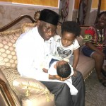 Lovely Photos of Ex-President Goodluck Jonathan With His Daughter And Grandchildren