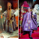 Alaafin of Oyo's Last Wife Wishes Him A Happy Birthday With His Before And After Photos