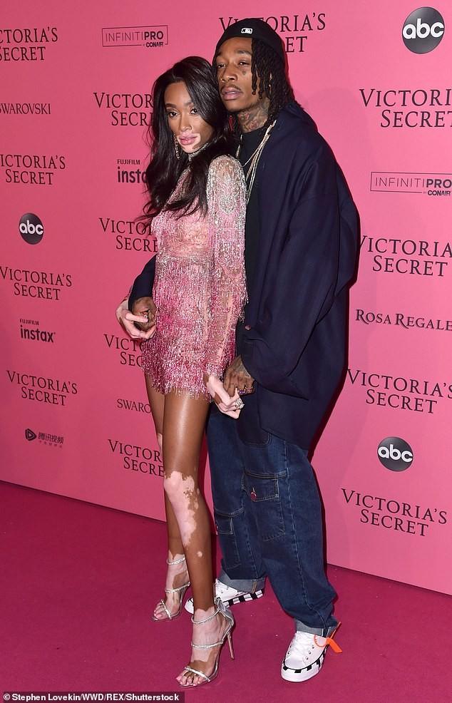 Winnie Harlow packs on PDA with beau Wiz Khalifa at Victoria