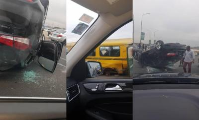 Photos from a Ghastly motor accident on 3rd mainland bridge