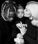 Adorable Family Photo of Kylie Jenner And Travis Scott As They Pose With Their Daughter Stormi For Thanksgiving