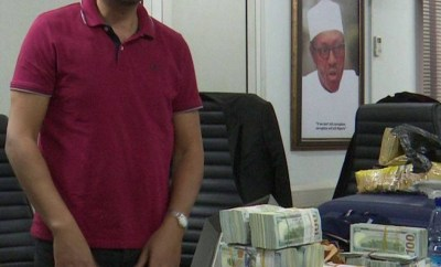 Photos: EFCC nabs Lebanese with over $2million cash at Abuja Airport