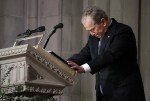 Former US President George W. Bush Breaks Down in Tears As He Says Farewell At His Dad's Funeral Service [Photos]
