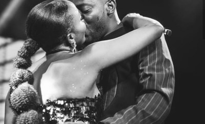"""""""Your love is overwhelming"""" - Simi tells Adekunle Gold after they share a kiss on stage (photos)"""