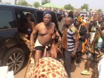 Minister of Youths And Sports Solomon Lalung Steps Out in Briefs As He Attends A Cultural Carnival in Plateau