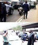 Photos: Like Fashola, Governor Ambode Arrests Soldier Driving Against Traffic in Lagos