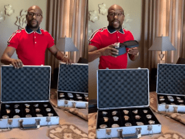 Floyd Mayweather shows off his collection of expensive wristwatches including his $18m Billionaire diamond watch (Video)