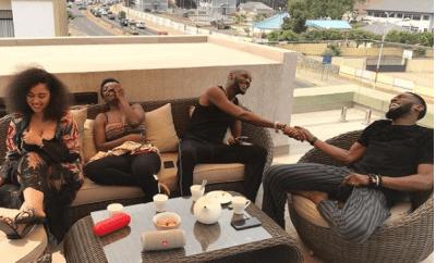 Dbanj, 2face and their wives go on baecation in Ghana (Photos)