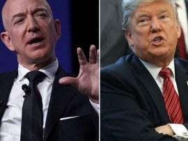 "Donald Trump slams Jeff Bezos over his affair, calls him ""Jeff Bozo"" and praises National Enquirer for exposing him"
