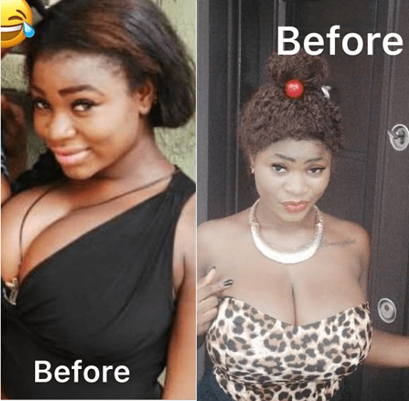 Roman Goddess Join The #10YearsChallenge, As Her Followers Argue if Her Boobs Are Natural [Photos/Screenshots]