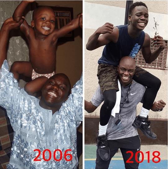 Hip TV boss, Ayo Animashaun and his son recreate photo from 12 years ago