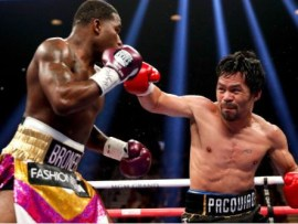 Manny Pacquiao tells?Floyd Mayweather to come out retirement for a rematch after beating Adrien Broner