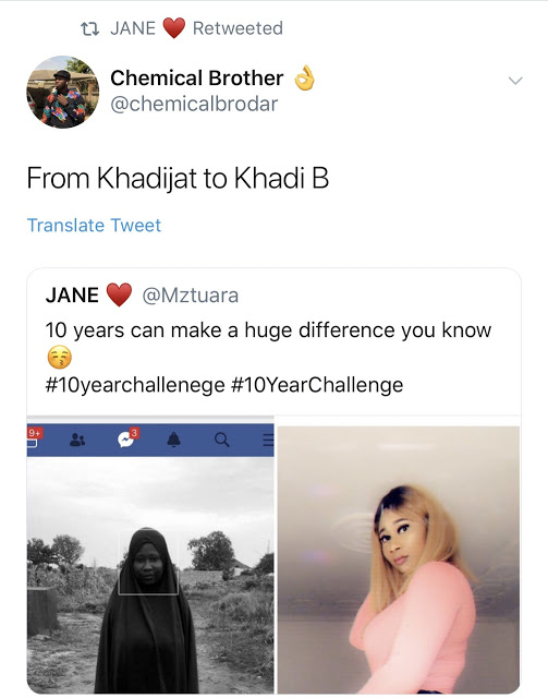 Former hijab-wearing muslim ladies shock online users with their #10yearchallenge photos