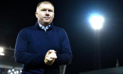 Oldham Athletic manager Paul Scholes