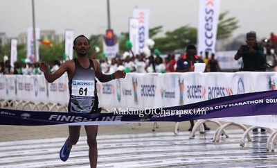 Breaking: Ethiopian athlete, Sintayehu Legese wins 2019 Lagos City Marathon