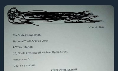 Letter of rejection given by Christian school to a Muslim corper stir up controversy on Twitter