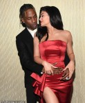 Kylie Jenner & Travis Scott Pack On The PDA At Clive Davis Pre-Grammy's Bash [Photos]
