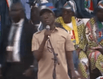 Video: Angry Youths Throw Stones At Oshiomole At The APC Rally in Ogun State