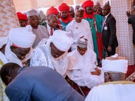Photos: President?Buhari performs Friday Juma