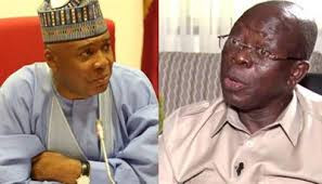 Oshiomhole mocks Saraki, says Kwarans have buried his political career
