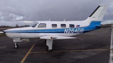 Piper Malibu aircraft, N264DB, at Nantes before the fatal flight
