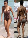 Photos: Teyana Taylor Flaunts Her Figure in Sheer Leopard Print Thong Swimsuit in Miami