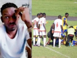 30year old striker, Herman Tsinga dies after collapsing during a?Gabonese league match