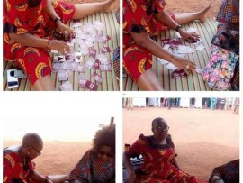 Remember the woman that brought a mat to her polling unit during the presidential election? See what she brought today (photo)