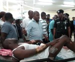 Photos: IGP Mohammed Adamu Visits Police Hospital To Empathize With Some Officers Involved in A Car Crash While On Election Duty