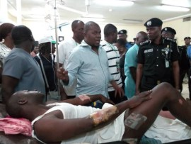 IGP Mohammed Adamu visits Police Hospital to empathize with some officers involved in a car crash while on?election duty (Photos)